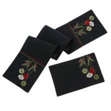 Noel Embroidered Table Runner