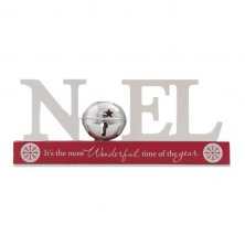 Noel Cut Out Christmas Mantel Plaque
