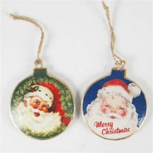 Victorian Style Father Christmas Tree Baubles