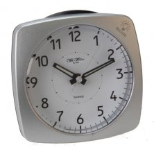 Wm Widdop Square Sweep Alarm Clock with Crescendo Alarm
