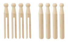 Elliott Beech Wood Dolly Pegs 24 Pack