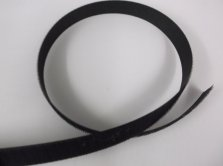 Black Velcro Sew-on Hook