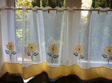 Sunflower Voile Cafe Panels