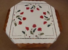 Poppy Embroidered Tablecloth