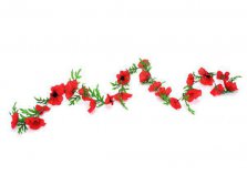 Artificial Flowers Flame Red Poppy Garland