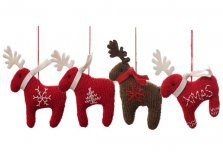 Knitted Reindeer Christmas Tree Decorations