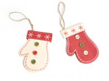 Christmas Hanging Tree Decoration Mitten