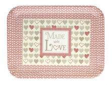 Made with Love Melamine Tray