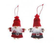 Pixie Santa Felt Christmas Tree Dolls