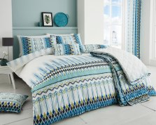 Tribal Teal Duvet Set