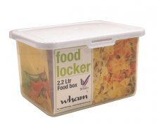 Wham Square Food Locker 2.2 Litre Tupperware Box White