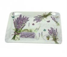 Lavender Bouquet Melamine Scatter Tray