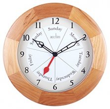 Acctim Day of the Week Quartz Wood Wall Clock