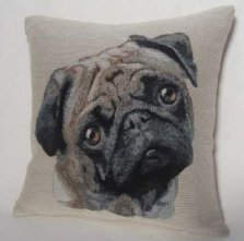 Pug Tapestry Cushion Cover