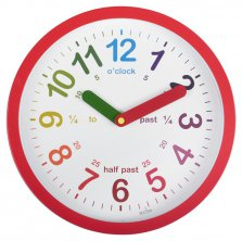 Lulu Red Time Teaching Wall Clock