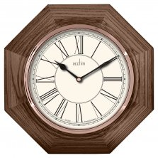 Acctim Kingston Quartz Octagonal Wood Wall Clock