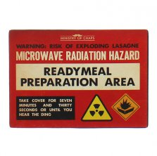 Ready Meal Preparation Area Ministry of Chaps Metal Wall Plaque