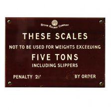 Steam Railway Co These Scales Wall Plaque