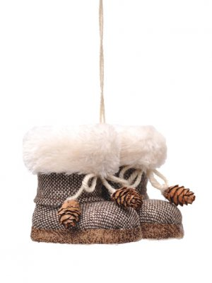 Cosy Boots Christmas Hanging Tree Decoration