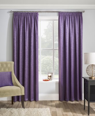 Matrix Grape Blockout Readymade Curtains