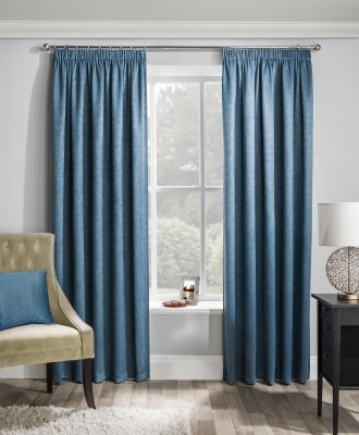 Matrix Teal Blockout Readymade Curtains