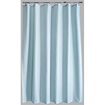 Duck Egg Blue Waffle Polyester Shower Curtain