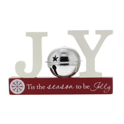 Joy Cut Out Christmas Mantel Plaque
