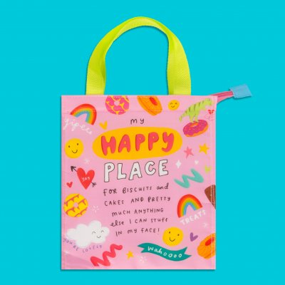 The Happy News Tote/Snack Bag - Happy Place