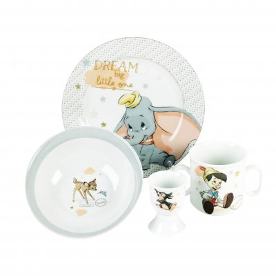 Disney Crockery Gift Set - Bowl, Mug, Plate & Egg Cup