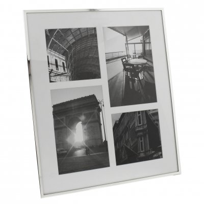 Impressions Plain Silver Plated Photo Frame 4 Apertures