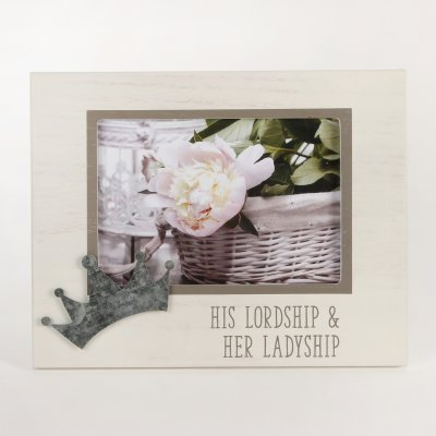 New View 'His Lordship & Her Ladyship' Photo Frame