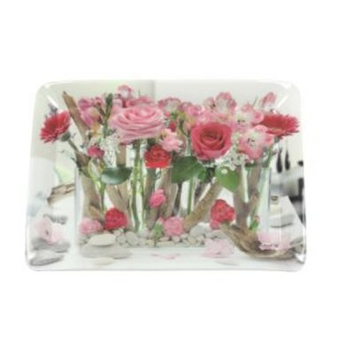 Ambiente Pink Melamine Scatter Tray