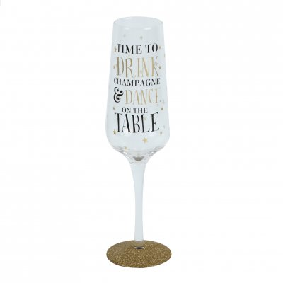 Dance on the Table Sparkling Flute Glass