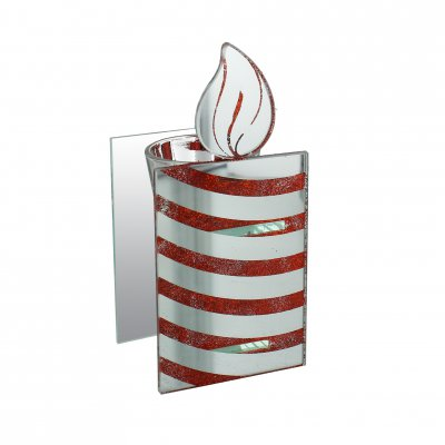 Christmas Striped Candle Tealight Holder
