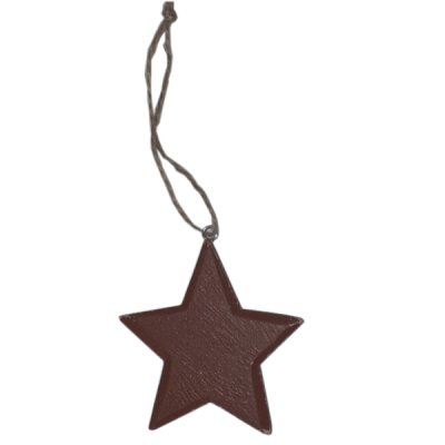Red MDF Star Christmas Tree Decoration
