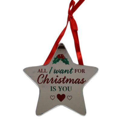 All I Want For Christmas Is You Star Plaque