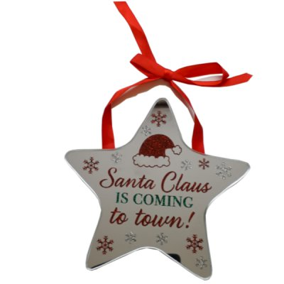 Santa Claus Is Coming To Town Star Plaque