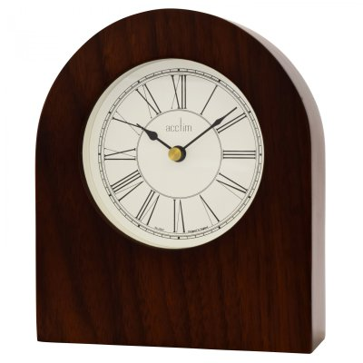 Acctim Brackley Arch Mantel Clock - Walnut