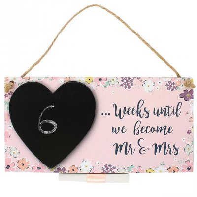 Mr & Mrs Countdown Plaque