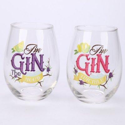 Set Of 2 Glass Gin Tumblers Gin Glasses York
