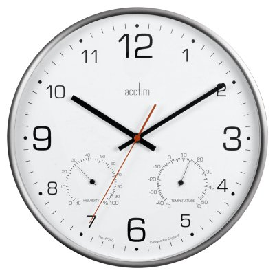 Acctim Komfort Temperature & Humidity Wall Clock