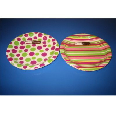 Spots and Stripes Paper Plates
