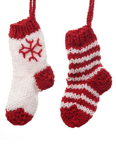 Knitted Socks Christmas Tree Decorations Connollys