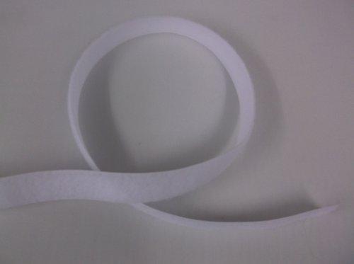 White Velcro Sew-on Loop