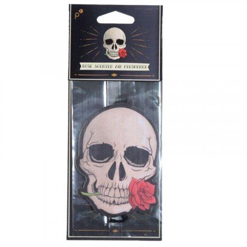 Gothic Skull and Rose Air Freshener