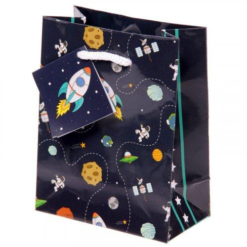 Rocket & Planet Gift Bag : Rocket & Planet Gift Bag Small