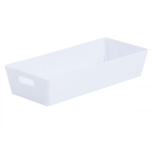 Studio Basket Rectangular Ice White 5x25x11cm