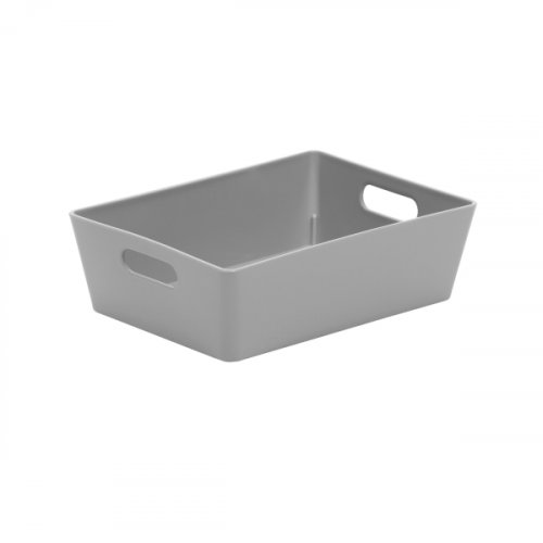 Grey Studio Basket Rectangular 5x16.5x12cm