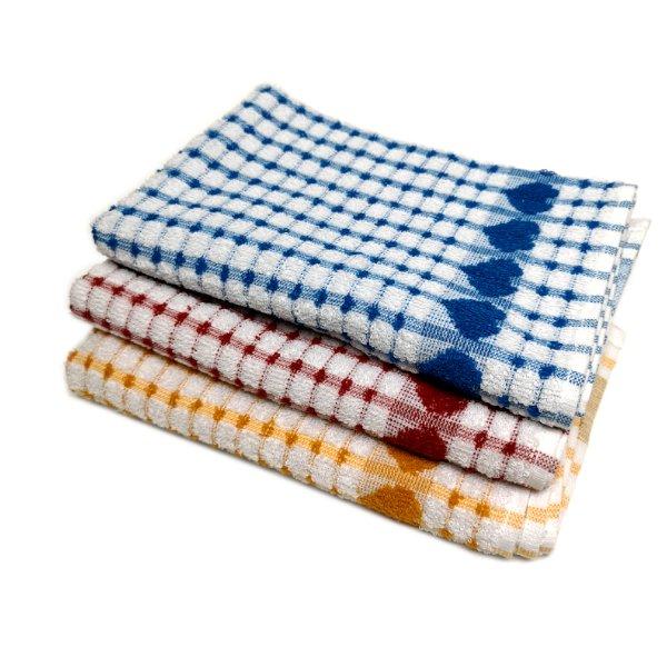 Heart Design Kitchen Towel/Tea Towel | Towels & Tea Towels ...