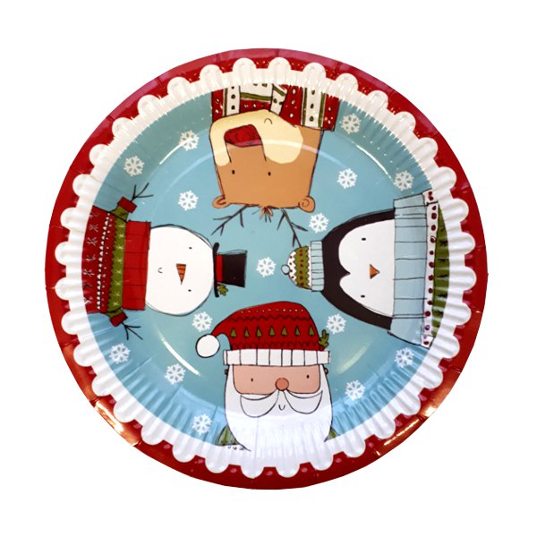8 Pack Christmas Paper Plates Christmas Party Plates